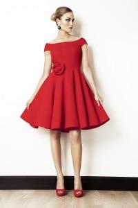 moda vestido corto rojo